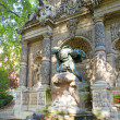 France. Paris. the Medici Fountain (La fontaine Medicis) in Luxembourg Gard - Stock Photo