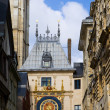 France. Normandie. Rouen. big tower clock- Gros-Horloge — Stock Photo #4027765