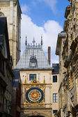France. Normandie. Rouen. The big tower clock- Gros-Horloge — Stock Photo