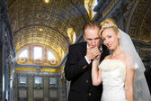 Wedding in St Peter's Basilica in Rome, Vatican — Stock Photo