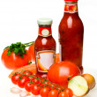 Stock Photo: Sauce and vegetables
