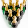 Sparkling wine bottles — Stock Photo