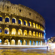 Italy. Rome. The night Collosseo - Stock Photo