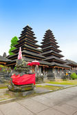 Entrance in temple, decorated to holiday. Indonesia, island of Bali. — Stock Photo