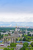 The top view on VDNH (All-Russia Exhibition Centre), Moscow, Russia — Stock Photo