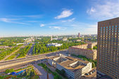 The top view on VDNH All-Russia Exhibition Centre, Moscow, Russia — Stock Photo