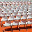 Empty rows of seats backs to spectator — Stok Fotoğraf #4951758