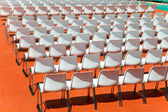 Empty rows of seats backs to spectator — Foto de Stock