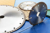 Diamond discs for cutting of tile — Stock Photo