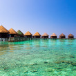 Maldives. Villa on piles on water — Stock Photo