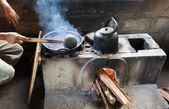 加工的一种作物的咖啡。亚洲。油炸的咖啡谷物 — 图库照片