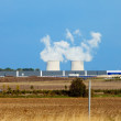 Steam over Nuclear power station. France. — Stock Photo