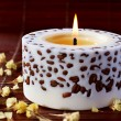 Aromatherapy candle — Stock Photo
