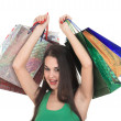 Royalty-Free Stock Photo: Beautiful shopping girl with colorful bags