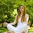 Yoga outdoor pose - Stock Photo