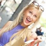 winkelen vrouw — Stockfoto