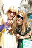 Happiness shopping woman — Stock Photo