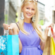 Stock Photo: Shopping woman