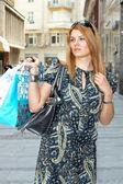 Shopping kvinna — Stockfoto