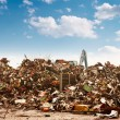Stock Photo: Car recycling to the dump