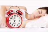 Kvinnan sov — Stockfoto