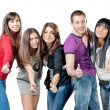 Group of happiness young — Stock Photo