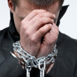 Stock Photo: Chained hands