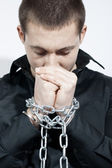 Chained hands — Stock Photo