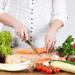 Chopping vegetable — Stockfoto #4941498