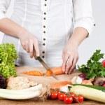 sekání zeleniny — Stock fotografie
