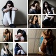 Stock Photo: Depressed collage