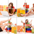 Stockfoto: Shopping woman collage