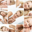Sleeping woman collage - Stock Photo