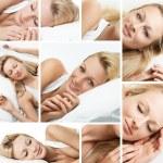 Sleeping woman collage — Stock Photo