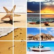 Foto Stock: Summer time travel collage