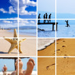 Summer time travel collage - Stock Photo