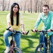 Couple on bike — Stock Photo #5318442