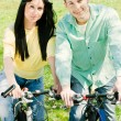 Couple on bike — Stock Photo #5318611
