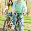 Couple on bike — Stock Photo #5319339