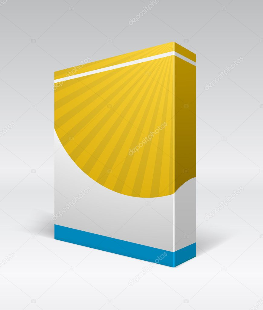 Blank dvd box on background. Vector illustration. — Stock Vector #4769451