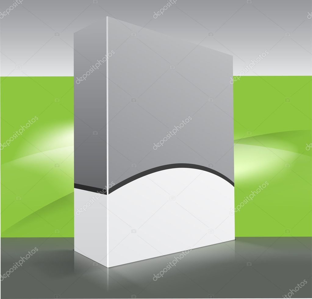 Blank dvd box on background. Vector illustration. — Stock Vector #4769494