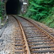 Railway track and tunnel — Stock Photo