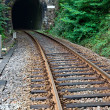 Stock Photo: Railway track and tunnel