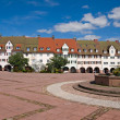 Main square in freudenstadt, Black Forest, Germany — Stock Photo