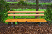Bench in a park in the Black Forest, Germany — Stock Photo