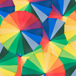 Umbrella with rainbow colors as background — Stock Photo