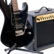 Electric guitar and amplifier isolated on a white background - ストック写真