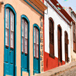 Stock Photo: Famous colored houses in LPalma, Canary Islands
