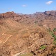 Rocky desert in Gran Canaria, Canary Islands - Stock Photo