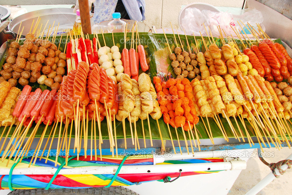 Traditional Thai style street food — Stock Photo #5247505